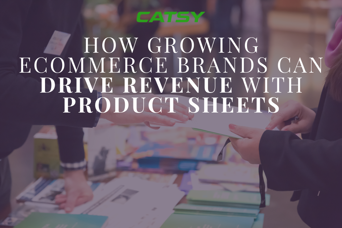 How Growing eCommerce Brands can Drive Revenue with Product Sheets
