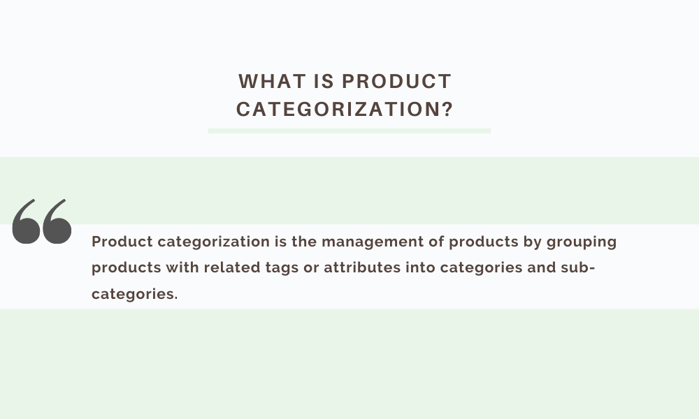 product categorization product taxonomy in pim software