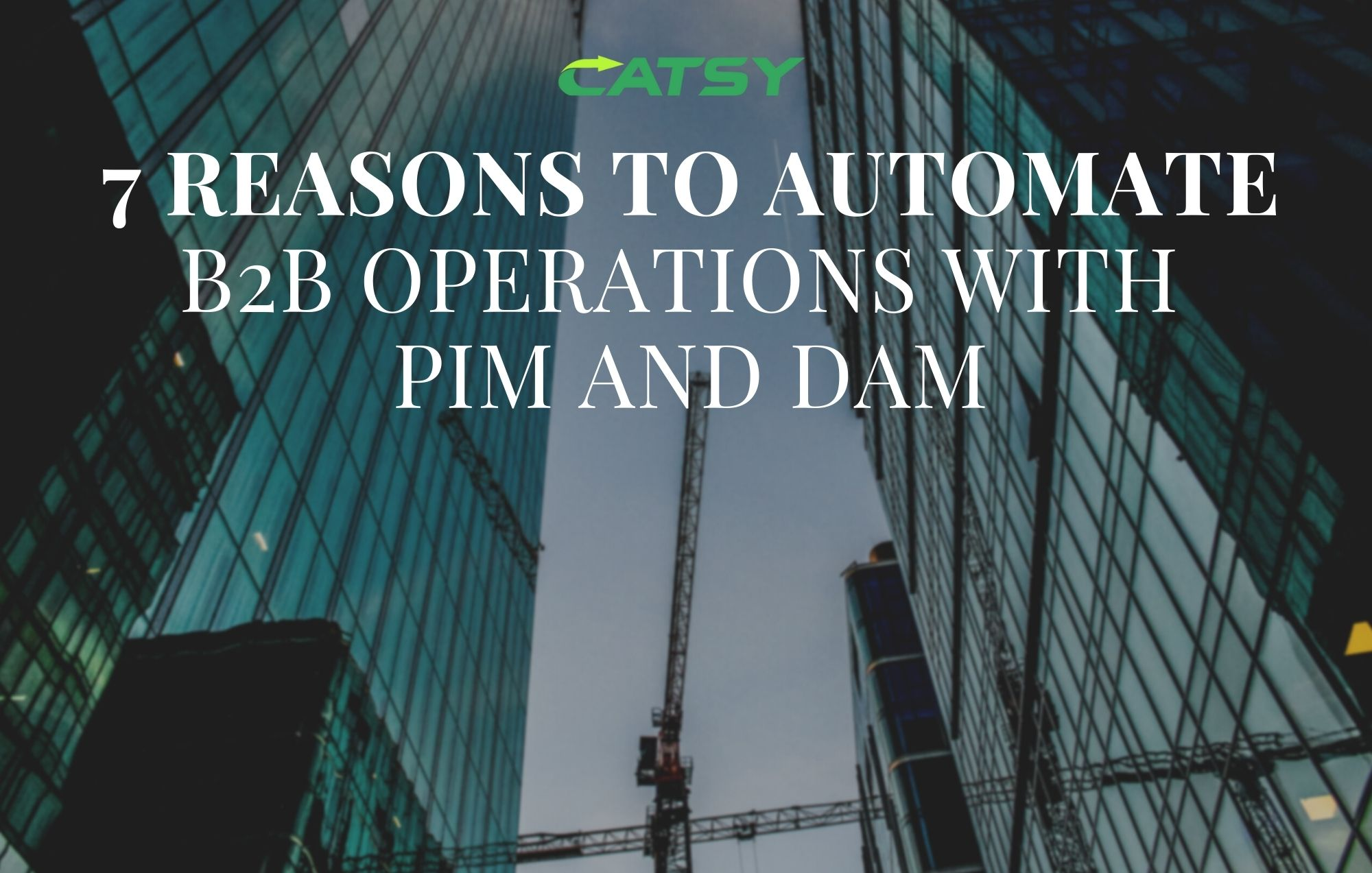7 Reasons to Automate your B2B eCommerce Operations with PIM and DAM.